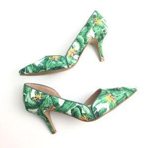 Kelly & Katie palm print heels size 7